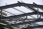 Shed roof frame